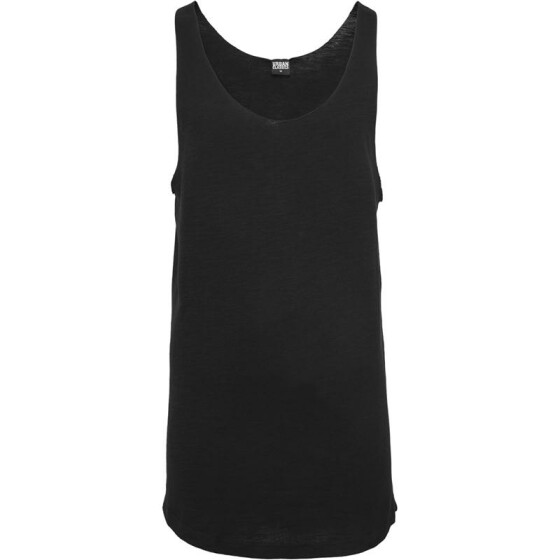 Urban Classics Long Shaped Open Edge Loose Tank, black L