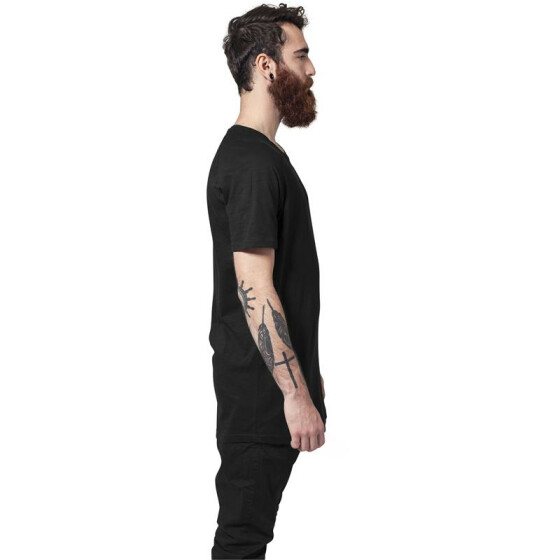 Urban Classics Long Shaped Slub Raglan Tee, black XL