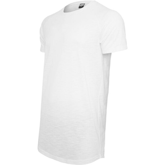Urban Classics Long Shaped Slub Raglan Tee, white L