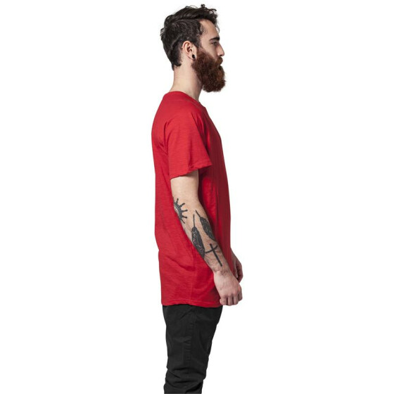 Urban Classics Long Shaped Slub Raglan Tee, fire red  S