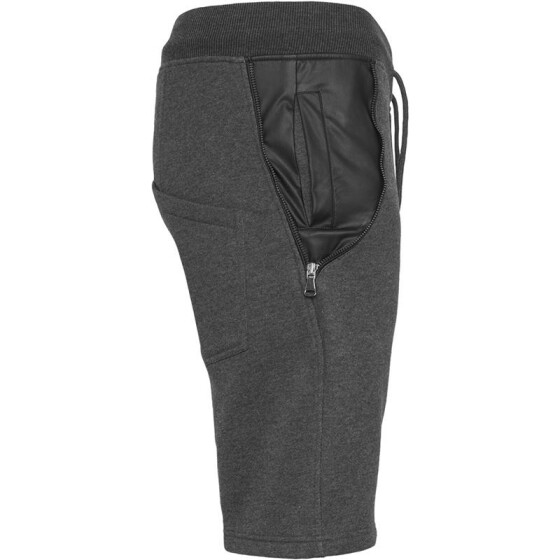 Urban Classics Side-Zip Leather Imitation Sweatshorts, cha/blk M