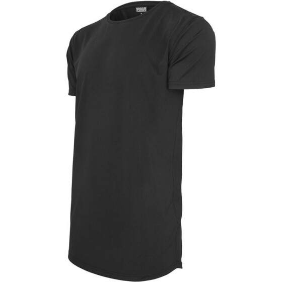 Urban Classics Shaped Neopren Long Tee, black M
