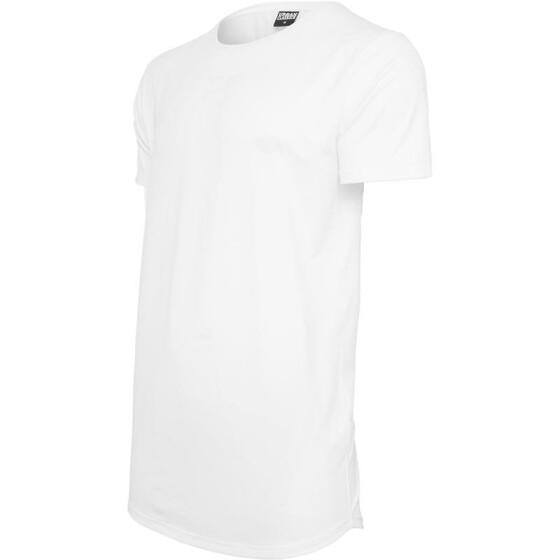 Urban Classics Shaped Neopren Long Tee, white L