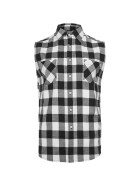 Urban Classics Sleeveless Checked Flanell Shirt, blk/wht L