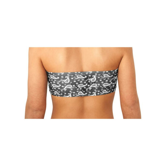 Urban Classics Allover Dance Bandeau, black paisley XL