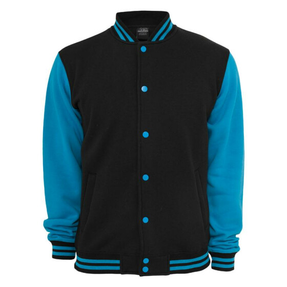 Urban Classics Kids 2-tone College Sweatjacket, blk/tur 8