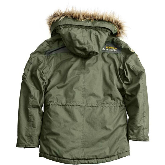 Alpha Industries   Mountain Parka, dark green
