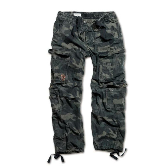 SURPLUS Airborne Vintage Trouser, stonewashed, black camo 5XL / 120 cm