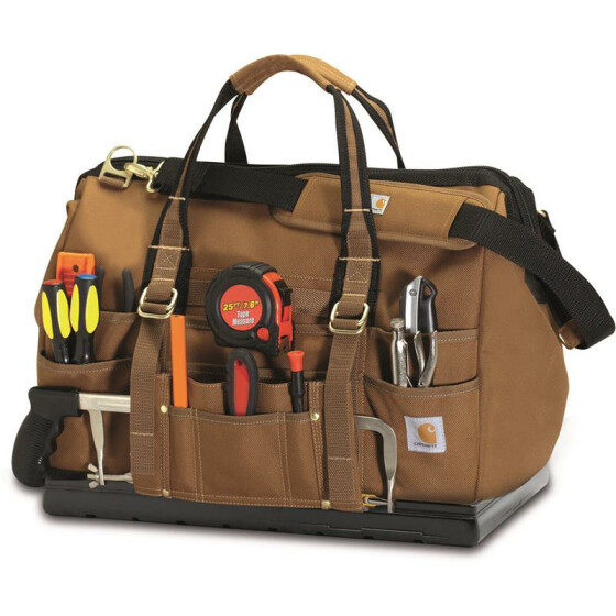 CARHARTT Legacy Tool Bag With Molded Base 18, braun