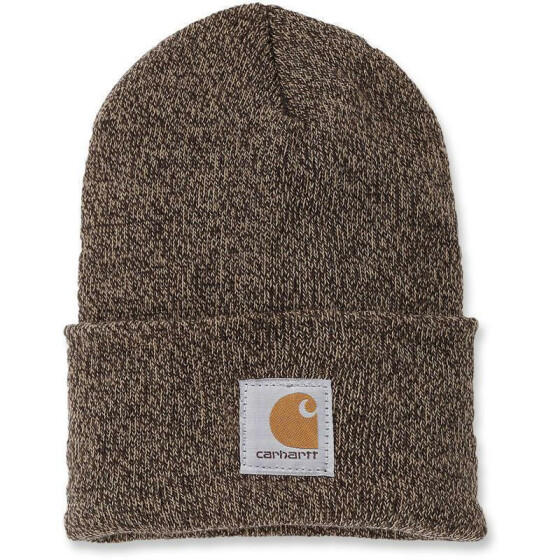 CARHARTT Watch hat, dunkelbraun/sand