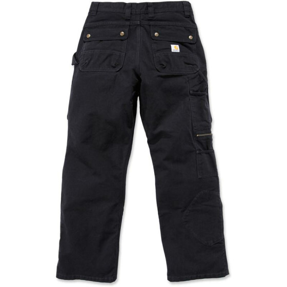 CARHARTT Washed Duck Multi Pocket Tech Pant, schwarz