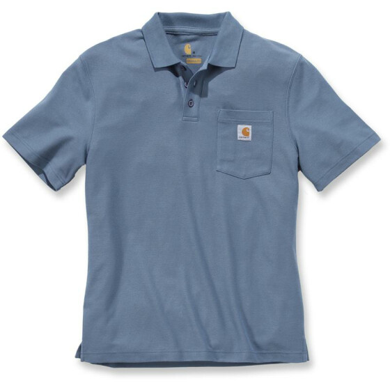 CARHARTT Contractors Work Pocket Polo, stahlblau