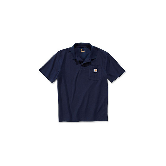 CARHARTT Contractors Work Pocket Polo, dunkelblau