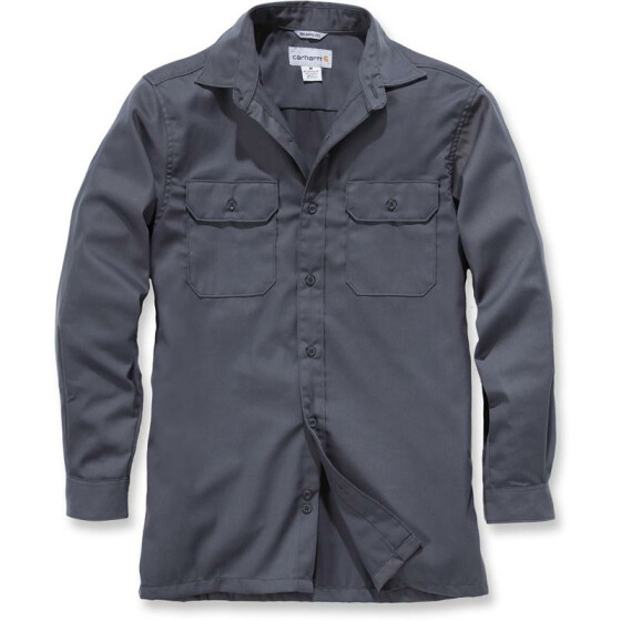 CARHARTT Twill Long Sleeve Work Shirt, dunkelgrau