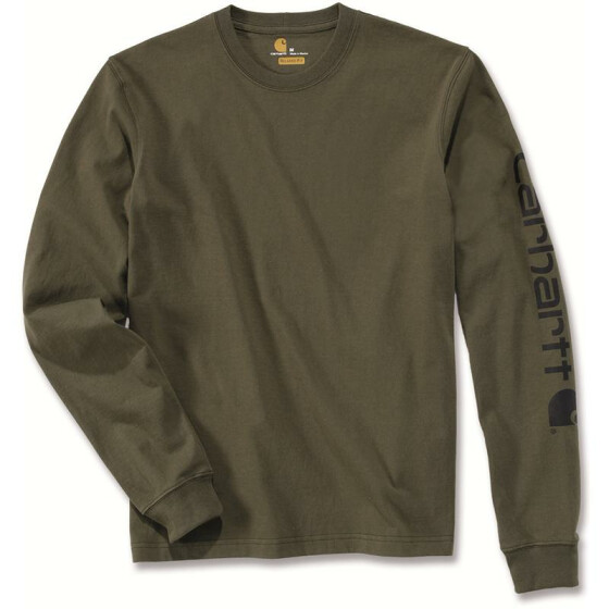 CARHARTT Logo Long Sleeve T-Shirt, grün