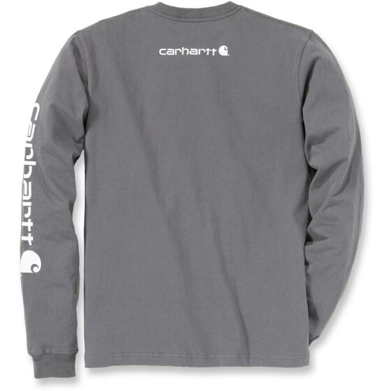 CARHARTT Logo Long Sleeve T-Shirt, anthrazit