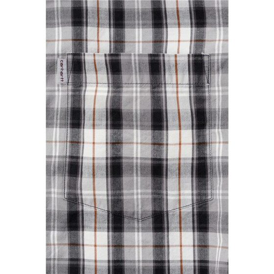 CARHARTT Slim Fit Plaid Short Sleeve Shirt, schwarz