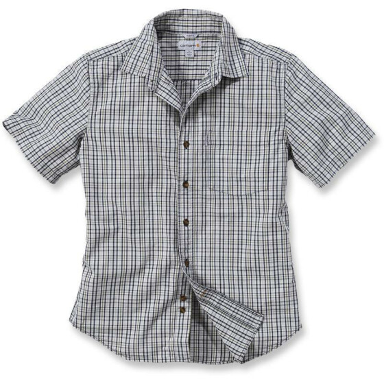CARHARTT Slim Fit Plaid Short Sleeve Shirt, grau