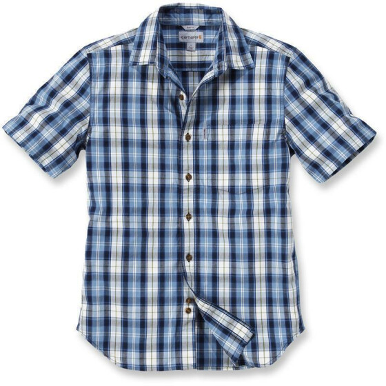 CARHARTT Slim Fit Plaid Short Sleeve Shirt, blau