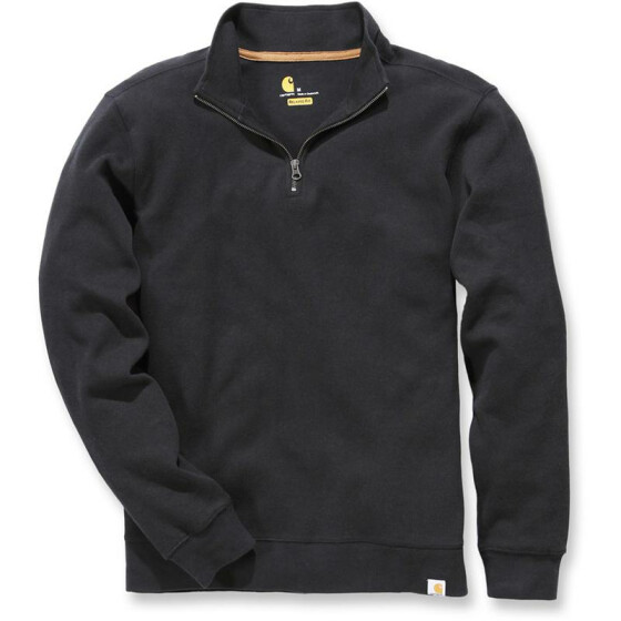 CARHARTT Sweater Knit Quarter Zip, schwarz