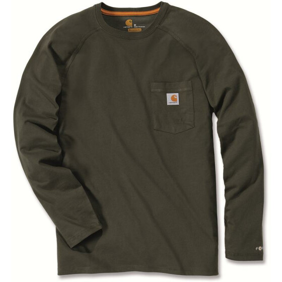 CARHARTT Carhartt Force® Cotton Long Sleeve T-Shirt, grün