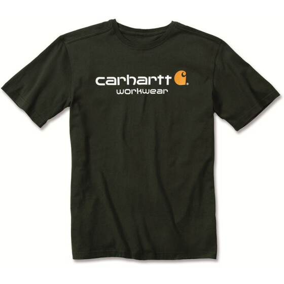 CARHARTT Core Logo Short Sleeve T-Shirt, grün