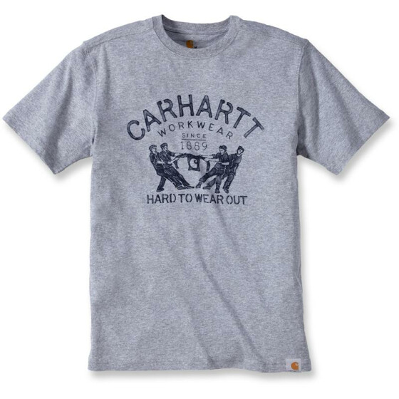 CARHARTT Maddock Graphic Hard To Wear Out Short Sleeve T-Shirt, grau