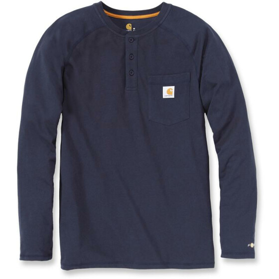 CARHARTT Carhartt Force® Cotton Long Sleeve Henley, dunkelblau