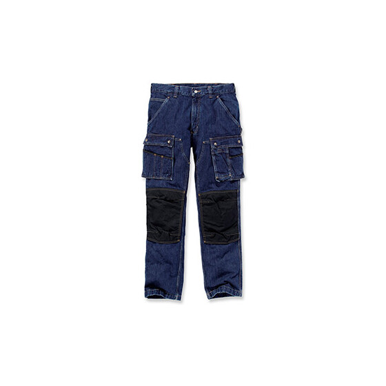 CARHARTT Denim Multi Pocket Tech Pant, dunkelblau W30/L32