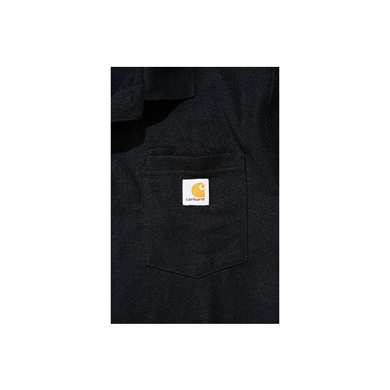 CARHARTT Contractors Work Pocket Polo, schwarz L