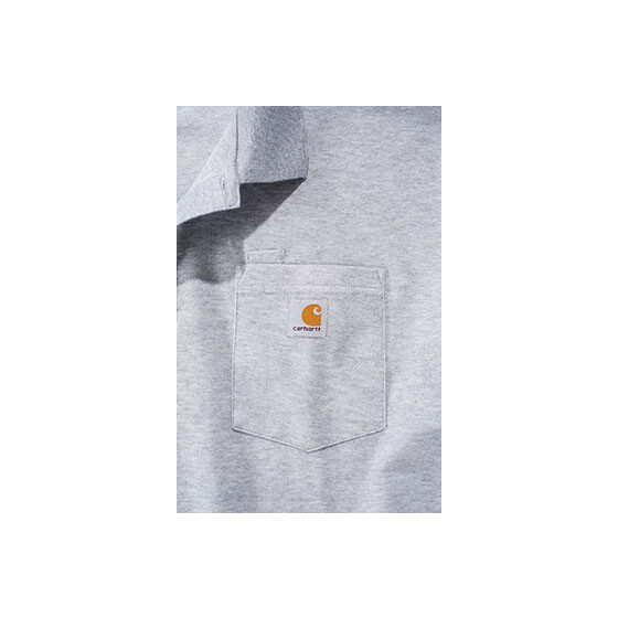 CARHARTT Contractors Work Pocket Polo, grau M
