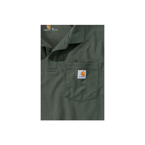 CARHARTT Contractors Work Pocket Polo, grün XS