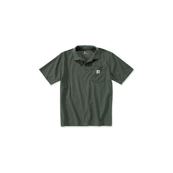 CARHARTT Contractors Work Pocket Polo, grün L