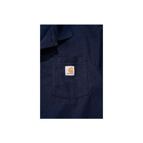 CARHARTT Contractors Work Pocket Polo, dunkelblau S