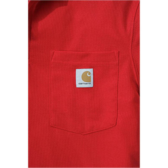 CARHARTT Contractors Work Pocket Polo, rot XS