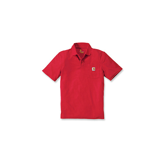 CARHARTT Contractors Work Pocket Polo, rot S