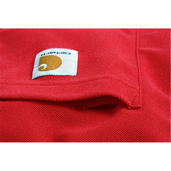 CARHARTT Contractors Work Pocket Polo, rot XL