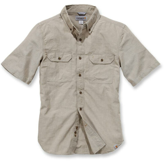 CARHARTT Fort Solid Short Sleeve Shirt, hellbraun M