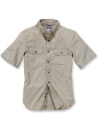 CARHARTT Fort Solid Short Sleeve Shirt, hellbraun L