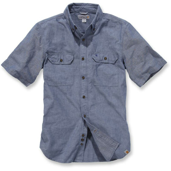 CARHARTT Fort Solid Short Sleeve Shirt, blau M