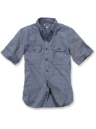 CARHARTT Fort Solid Short Sleeve Shirt, blau L