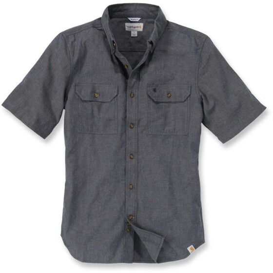 CARHARTT Fort Solid Short Sleeve Shirt, schwarz S