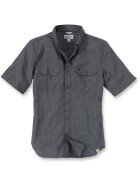 CARHARTT Fort Solid Short Sleeve Shirt, schwarz L