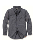 CARHARTT Fort Solid Long Sleeve Shirt, blau XL