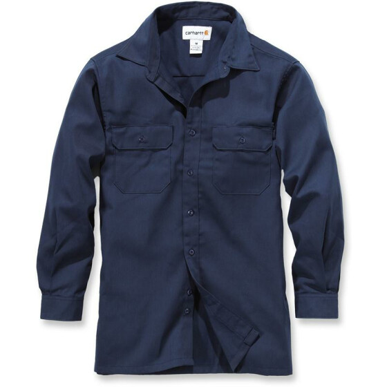CARHARTT Twill Long Sleeve Work Shirt, dunkelblau S