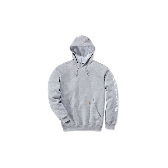 CARHARTT Midweight Signature Sleeve Logo Hooded Sweatshirt, grau XL