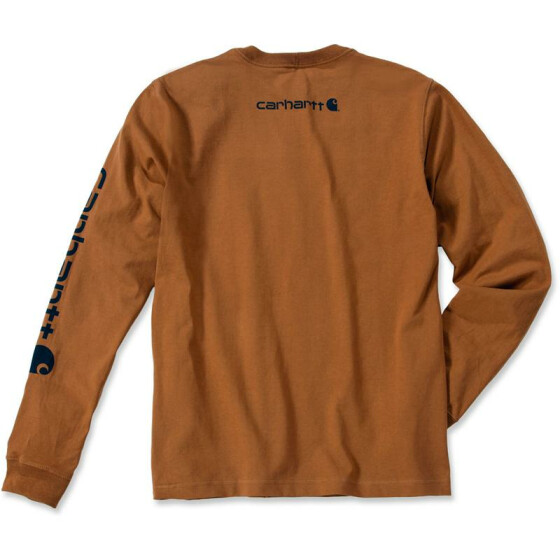 CARHARTT Logo Long Sleeve T-Shirt, braun XL