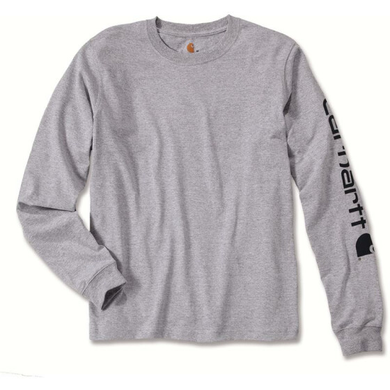 CARHARTT Logo Long Sleeve T-Shirt, grau M