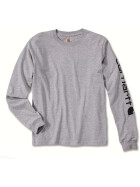CARHARTT Logo Long Sleeve T-Shirt, grau XL