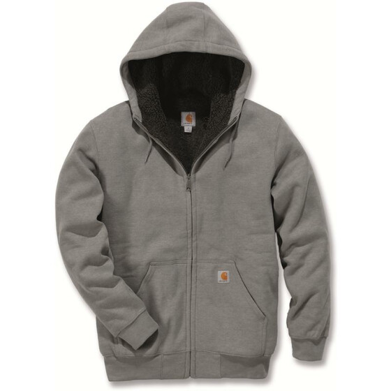 CARHARTT Colliston Sherpa Lined Zip Front Sweatshirt, anthrazit S